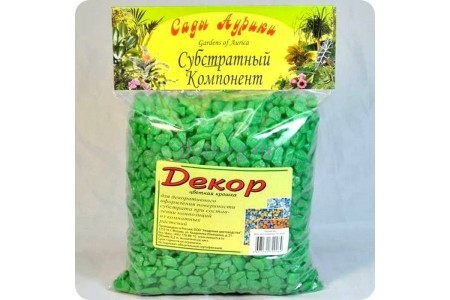 Крошка декоративная цветная 1кг Зеленый