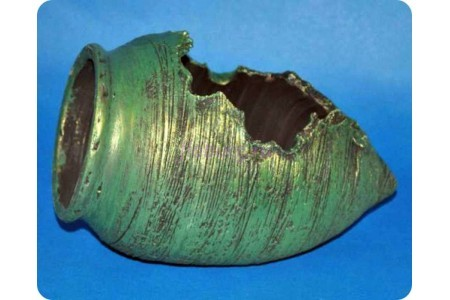 Ваза декоративная «Амфора леж.мини 20см (зел)»