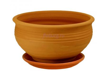 Горшок для цветов керамический с поддоном «Фиалочница №2 терракотовый» 3-00 32-200
