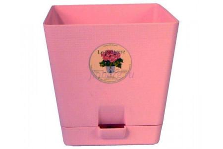 Горшок для цветов пластиковый с поддоном «Le parterre» 1,0л (розовый)
