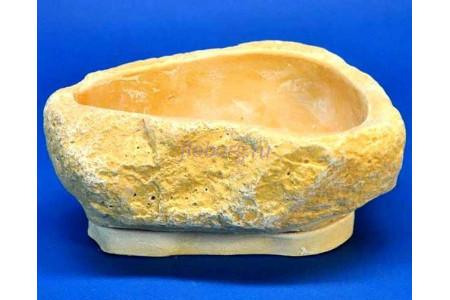 Горшок для цветов с поддоном «Камень Арарат» 20см х 17см h8см св/песч
