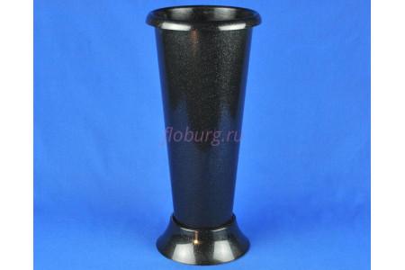 Ваза пластиковая под срезку h42см. (черн) м6433