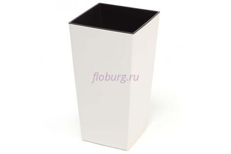 Кашпо пластиковое со вставкой Finezja 40*40*75см (крем) (548-74)