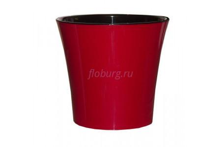 Кашпо пластмассовое для орхидеи  АРТЕ  1,2л (красный-черный)