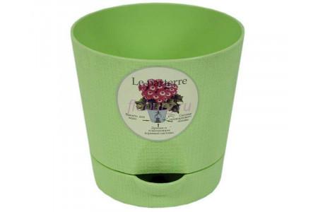 Горшок для цветов пластиковый с поддоном «Le parterre» 0,7л (зеленый)