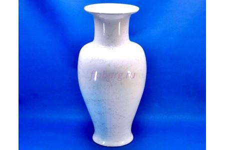 Ваза керамическая для сухоцветов  ВИКТОРИЯ белая