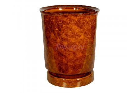Горшок для цветов керамический с поддоном «Вазон №4» коричневый 30л