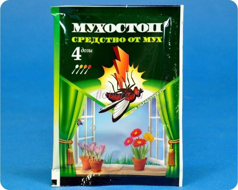 Средство защиты растений Мухостоп 10г от почвенных мошек и мух