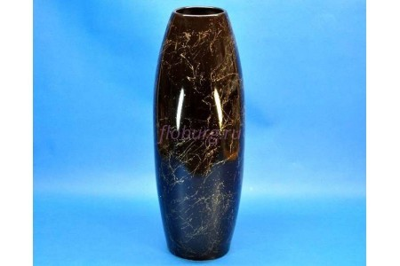 Ваза керамическая для сухоцветов  ОВАЛ  средний черная