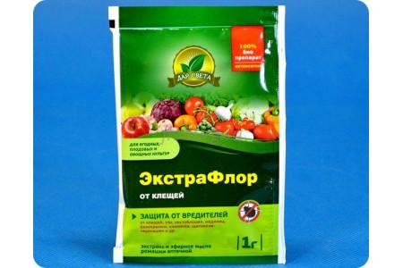 Средство защиты растений Экстрафлор от клещей 1г