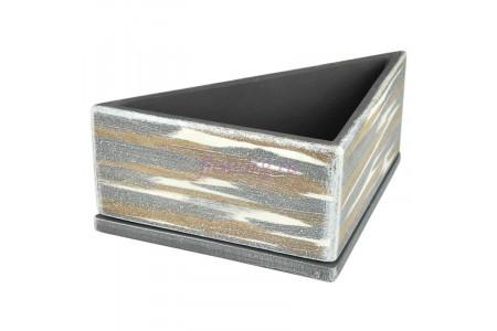 Горшок для цветов керамический с поддоном ДВ-темный Треугольник d28/h12см NK02/32