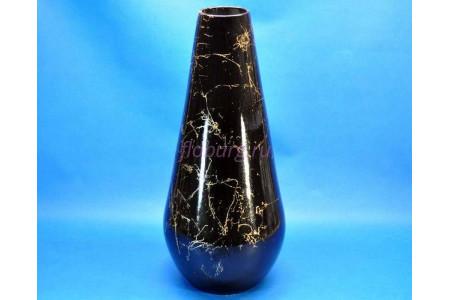 Ваза керамическая для сухоцветов  КАПЛЯ малая черная