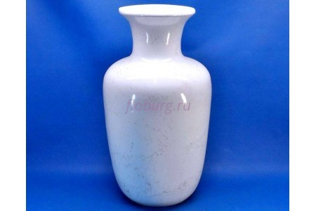 Ваза керамическая для сухоцветов  АЛЛА белая