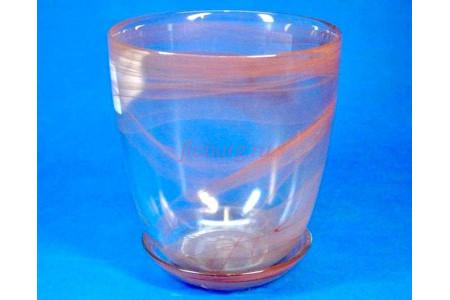 Горшок для цветов из стекла  «№4 алебастр коричневый»