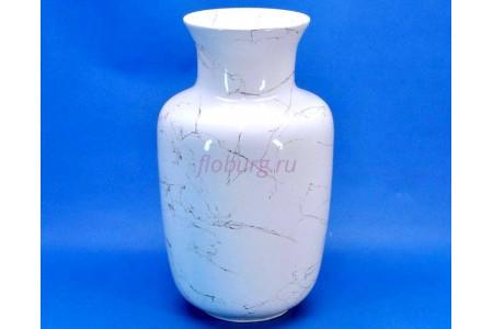 Ваза керамическая для сухоцветов  ЛАДА белая