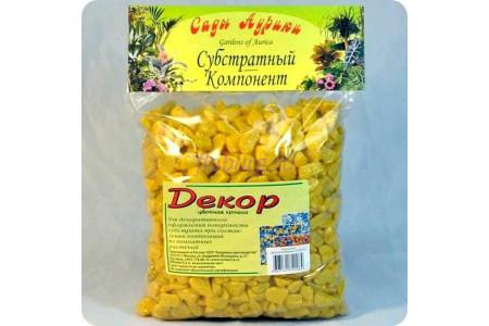 Крошка декоративная цветная 1кг Желтый