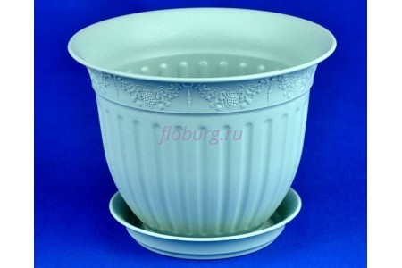 Горшок для цветов пластиковый с поддоном Виноград с под.16 (мята) 16-М