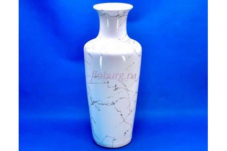 Ваза напольная керамическая для сухоцветов ВАРИАЦИЯ  бел   h56см
