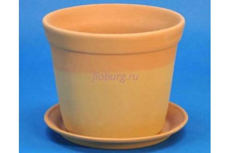 Горшок для цветов керамический с поддоном Юкка (тер) d16см