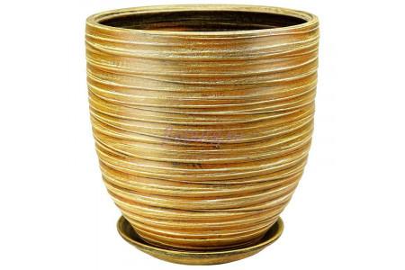 Горшок для цветов керамический с поддоном Модерн песок 5  55-513   6-13