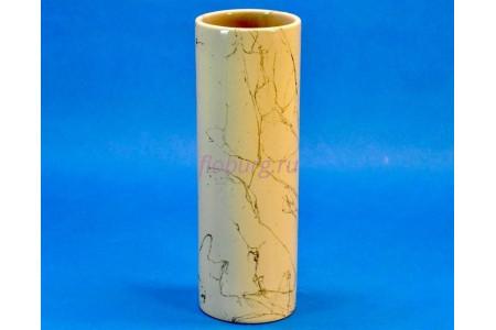Ваза керамическая для сухоцветов  ЦИЛИНДР малая бежевая