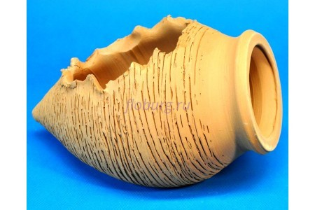 Ваза керамическая декоративная «Амфора лежащая мини» 20см (тер) V05