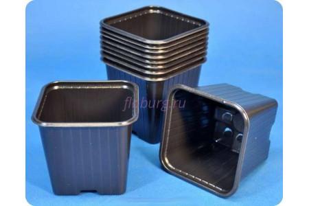 Кашпо для рассады квадратное 9х9х9,5см пластиковое