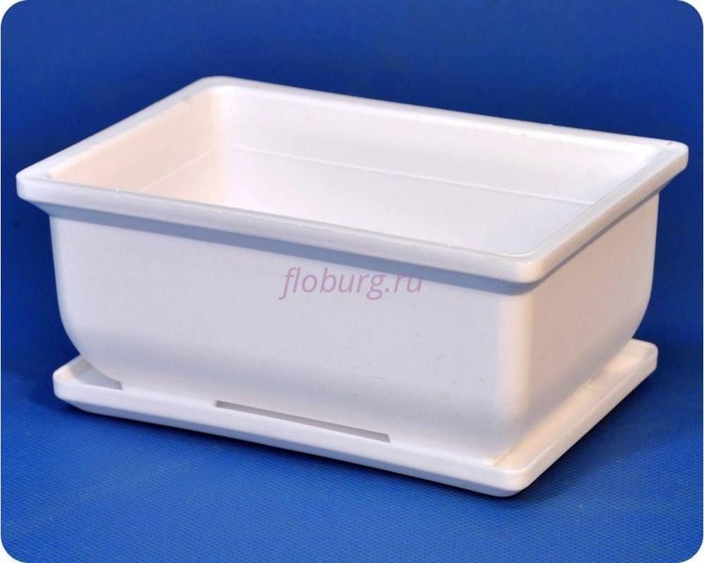 Бонсайница пластиковая  с под.20(бел)
