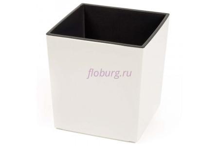 Кашпо пластиковое со вставкой Juka 40*40*41см (крем) (554-74)
