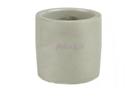 Кашпо керамическое без поддона и дренажного отверстия Эко 0,22л (серое)